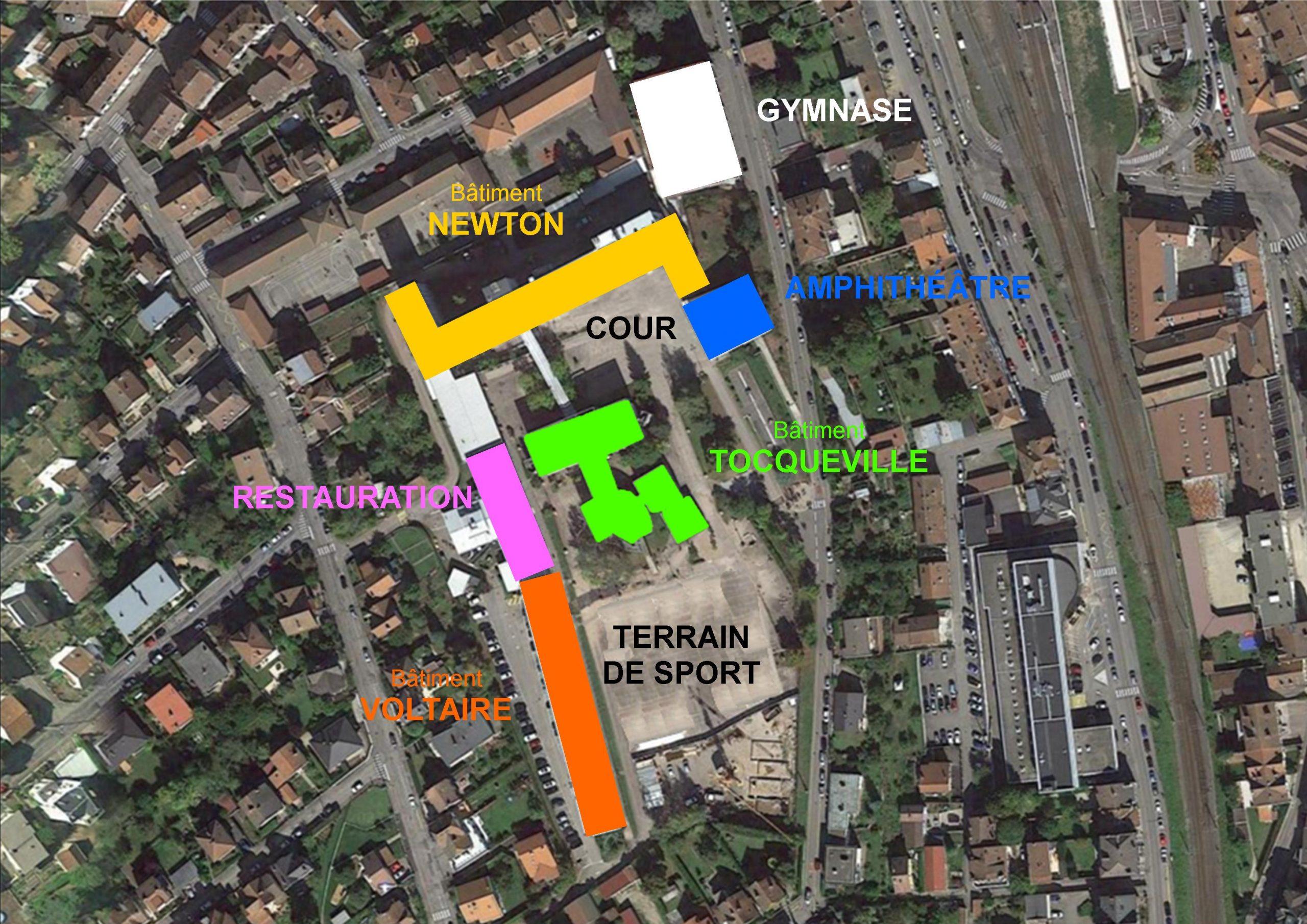 Carte interactive du lycée Louis Lapicque